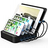 TTPLANET USB Charging Station 5-Port Desktop Charging Stand Organizer for iPhone
