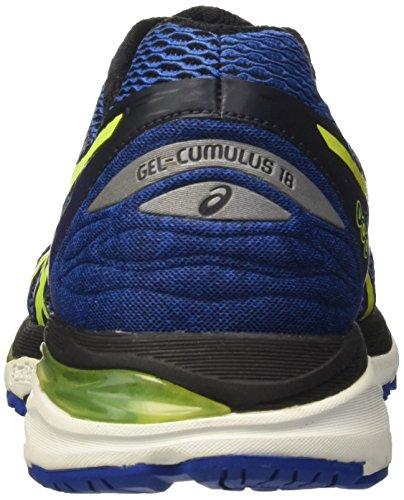 Asics Gel-Cumulus 18, Scarpe da Corsa Uomo Blu (Imperial/Safety Yellow/Black)