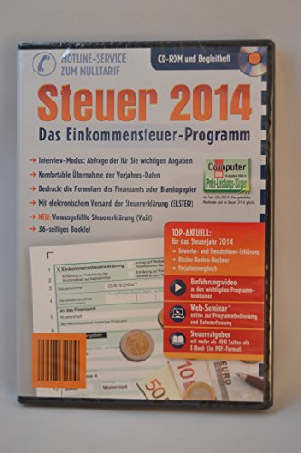 Aldi Steuerprogramm Einkommenssteuer 2014 – Steuer 2014 CD