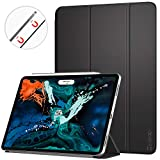 Ztotop Case for New iPad pro 12.9 Inch 2018,Ultra Slim Strong Magnetic Back,Trifold Stand Protective Cover with Auto Wake/Sleep Case for iPad Pro 12.9 2018 Inch (A1876/A1895/A2014/A1983),Black