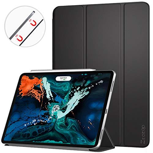 Ztotop Hülle für iPad pro 12.9 Zoll 2018, Ultra Schlank leichte und Klappständer mit automatischem Schlaf/Aufwach für ipad pro 12.9 2018(A1876/A1895/A2014/A1983), Schwarz