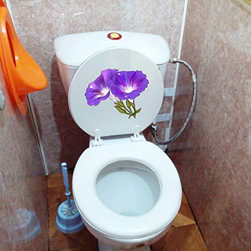 Schöne Rose Hauptlieferungsdekor Decking Wand Toilettensitz Aufkleber Lila Winde Dekorative Familie Wanddekor Toilettenaufkleber i3 44,25x50,85 cm