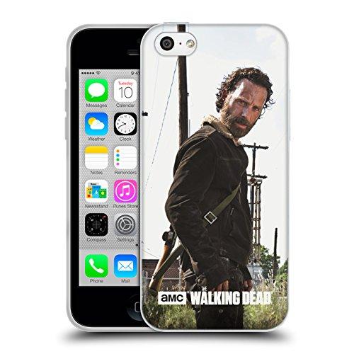 Officiel AMC The Walking Dead Rick Arme À Feu Personnages Filtrés Étui Coque en Gel molle pour Apple iPhone 5c, Coques iphone