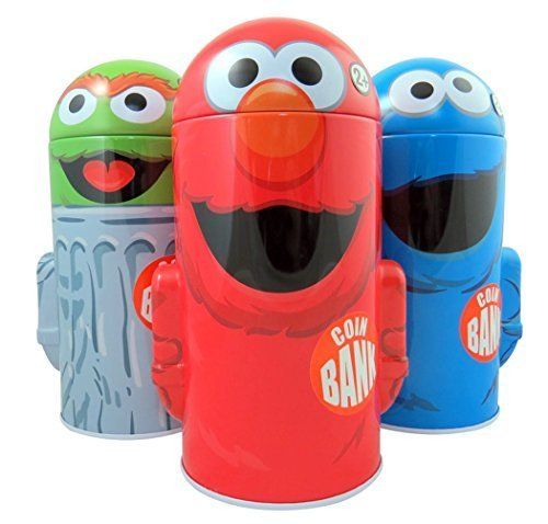Sesame Street Character Shape Dome Tin Bank with Arms by Sesame Street