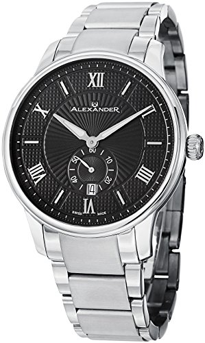 alexander-statesman-regalia-armbanduhr-edelstahl-gehause-auf-edelstahl-armband-schwarz-gemustertes-z
