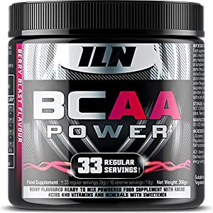 51aBrEZkx6L. SS300  - Iron Labs Nutrition, BCAA Power - 15,000mg BCAAs Per Serving - Intra Workout BCAA Supplement Drink - Berry Blast Flavour…