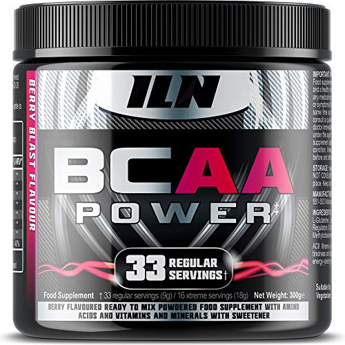 51aBrEZkx6L. SS500  - Iron Labs Nutrition, BCAA Power - 15,000mg BCAAs Per Serving - Intra Workout BCAA Supplement Drink - Berry Blast Flavour…