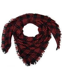 styleBREAKER Écharpe carrée XXL, plaid avec motif tartan écossais à  carreaux et franges, unisexe 0c0bf5cc8a8