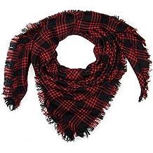 styleBREAKER Écharpe carrée XXL, plaid avec motif tartan écossais à carreaux  et franges, unisexe 855777794a5