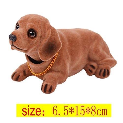 Sopito Hund schüttelt seinen Kopf Puppe Auto Ornamente, Auto Inneneinrichtung, niedlichen Hund Ornamente, kreative Geschenke (Wurst Hund) -