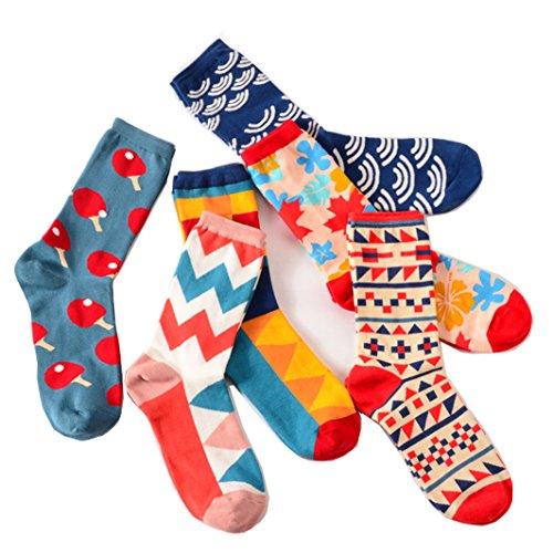 Vesi - Pack von 6 Paar lustigen Graffiti Bunte Herren Socken