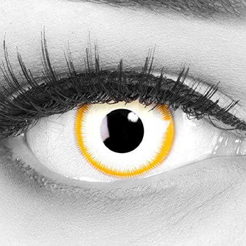 Kostüm Alien Kontaktlinsen - Meralens, weiche 12 Monatslinsen, Alien, ohne Stärke, mit Behälter, 1 Paar ( 1 x 2 Stück)