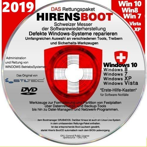 Notfall Cd Für Windows Betriebssysteme Umfangreicher Erste Hilfe Koffer An Softwaretools Zur Rettung