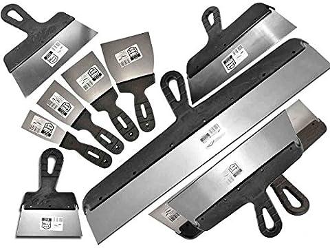 11 PCS - DRYWALL TAPING, FILLING KNIFE, KNIVES, SCRAPER, PLASTERING