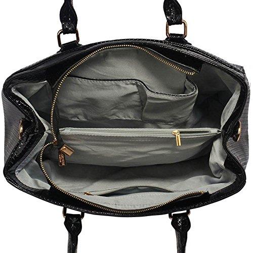 Frauen Greifer Tote Handtasche Damen Entwerfer Stilvolle Faux Leder Ergreifen Sie Tote-Handtaschenhandtaschen Heiß Selling Trendstar Taschen A-Schwarz