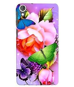 Citydreamz Butterflies\Flowers Hard Polycarbonate Designer Back Case Cover For HTC Desire 626