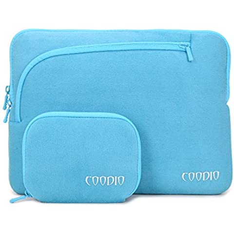 Coodio® Universal 11.6 inch Laptop Funda Sleeve + Accesorio Bolsa Para Apple Macbook Air 11, Chromebook 11 (Fit all 11.6 inch ultrabook laptop notebook) - Color Azul Claro