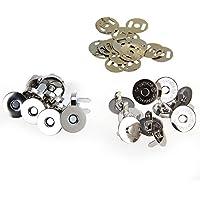 Skyllc® Lote de 10 Fornituras Cierres Magnéticos Hebilla 18mm