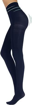 CALZITALY Collant Modellante Shaper & Push Up   Calze Opache Control Body   Nero, Blu   Taglia S M L XL, XXL   100 DEN   Made in Italy