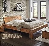 Hasena Oak Wild Massivholzbett Bormio Wildeiche Natur Cobo 20 140x200