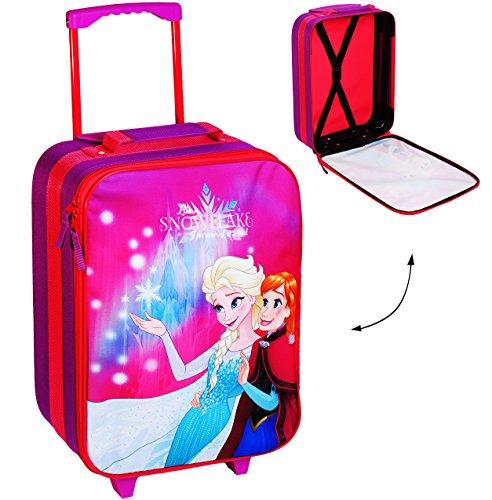 alles-meine.de GmbH großer _ Kinder Trolley -  Disney die Eiskönigin / Frozen  - wasserabweisend & beschichtet - für Mädchen & Jungen - Trolly mit Rollen - Koffertrolley / Kind..