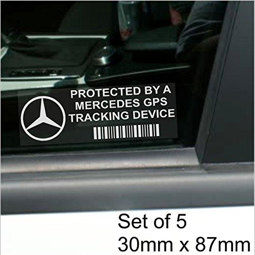 5-x-mercedes-benz-dispositif-de-reperage-gps-de-fenetre-87-x-30-mm-slk-c-s-e-classe-amg-voiture-van-