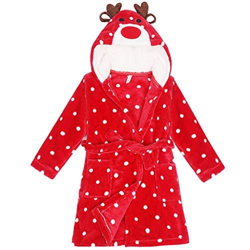 Bata Baño Niños Encapuchado Ropa Dormir Pijama Bata