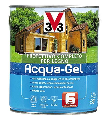 3v3 - protettivo per legno acqua-gel colore verde 2,5 lt