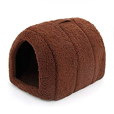ZYZSYY Lovely Pet House With a Bow Dog Kennel Puppy and Cat Beds Arched Shape Easy to Wash Easy to take Puppy Dog Cat Living 4 Colors from ZYZSYY
