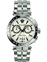 Versace Men's 'MANIFESTO EDITION' Swiss Quartz Stainless Steel Casual Watch, Color:Silver-Toned (Model: VBR040017)