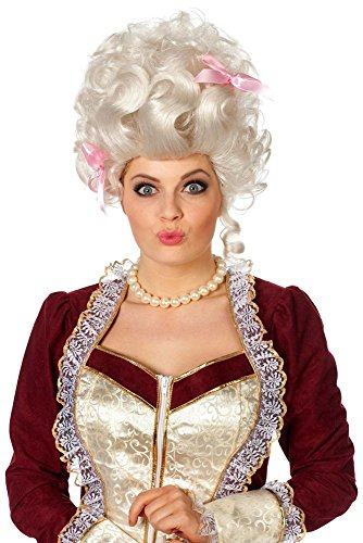 ke Barock Marquise mit rosa Schleifen Karneval Fasching (Rosa Perücke Mit Schleife)