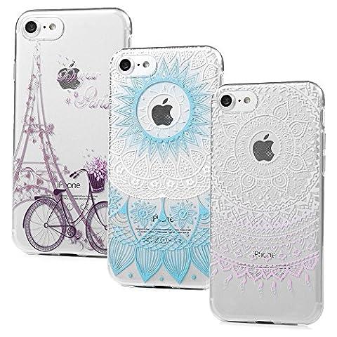 3 x Coque iPhone 7, Badalink Case Housse Bumper Coque