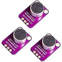 Sharplace 3pcs Electret Microphone Amplifier Breakout Module MAX4466 Sensor para Arduino de Alta Calidad