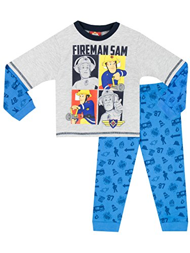 Feuerwehrmann Sam Schlafanzug grau-blau thumbnail