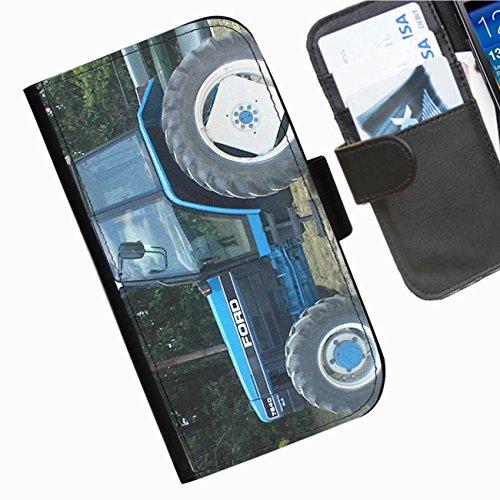 Hairyworm- Traktoren Seiten Leder-Schützhülle für das Handy Blackberry 9720