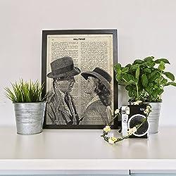 """Lámina para enmarcar """"Casablanca"""" con definición de Hollywood. Nacnic. Laminas decorativas para pared. Laminas estilo vintage. Laminas para enmarcar con imágenes de películas. Regalo creativo. Papel 250 gramos alta calidad"""