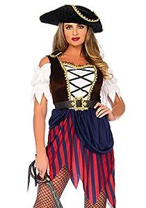 Wonderland W5041206101 Pirate - Disfraz de Capitán para mujer, multicolor, talla M/L (EUR 40-42)