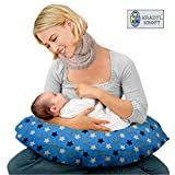 Kradyl Kroft 5in1 Baby Feeding Pillow with Detachable Cover (Blue Star)