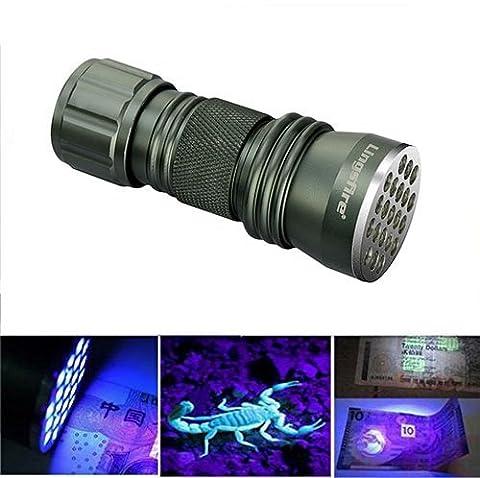 LingsFire® Mini AAA 21 LED UV lampe de torche proche