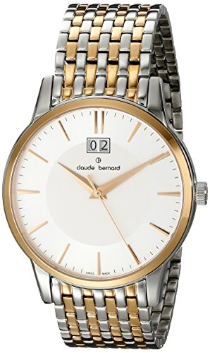 Claude Bernard Men's 63003 357RM AIR Classic Gents Analog Display Swiss Quartz Two Tone Watch