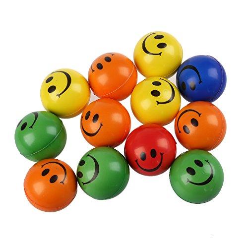 Gelegentliche Farbe Smiley Gesicht Stress Erleichterung Squeeze Ball - Hilfe Arthritis ()