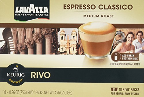LAVAZZA ESPRESSO CLASSICO 72 PACKS made for KEURIG RIVO SYSTEM by Lavazza