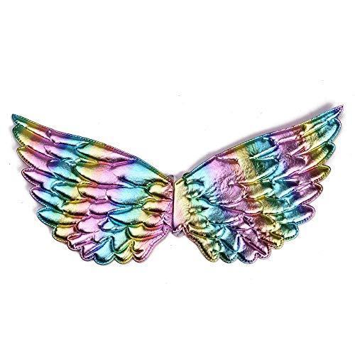 n Kostüm Festzug 3D Flower Princess Party Tutu Kleid mit Flügeln,rainbowwings,90cm ()