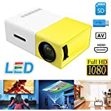 MIMOB YG300 400LM Portable Mini Home Theater LED Projector With Remote Controller, Support HDMI, AV, SD, USB Interfaces (Yellow)