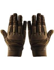 Piel Sport Guantes de Hombre, con La Función de Pantalla Táctil, Velcro Ajustable Para Actividades al Aire Libre Moto Beasball (Camello, XL)