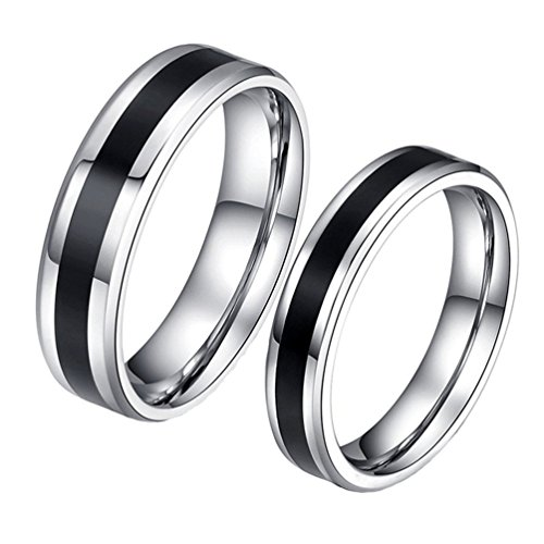HIJONES Bijoux Hommes Acier Inoxydable Couples Promesse Bague Taille 66