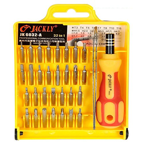 billionBAG High Quality Jackly 32 In 1 Interchangeable Precise Screwdriver Tool Set With Magnetic Holder  available at amazon for Rs.199