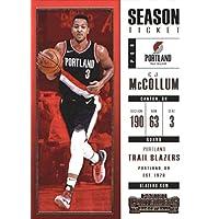 2017–18Dépasse Panini Season Ticket # 91CJ Mccollum Portland Trail Blazers Basketball carte