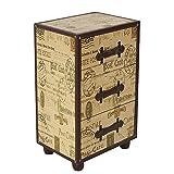 Mueble auxiliar 3 cajones 40x30x60 1 diseño