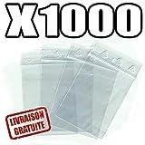 Materiel-pro 1000 Tütchen aus Kunststoff für Schmuck oder Druckverschlussbeutel, 40x60mm
